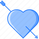 arrow, day, heart, love, relationship, valentine icon