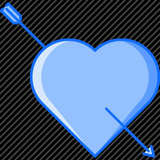 arrow, day, heart, love, relationship, valentine icon