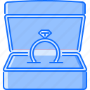 box, day, love, relationship, ring, valentine, wedding icon