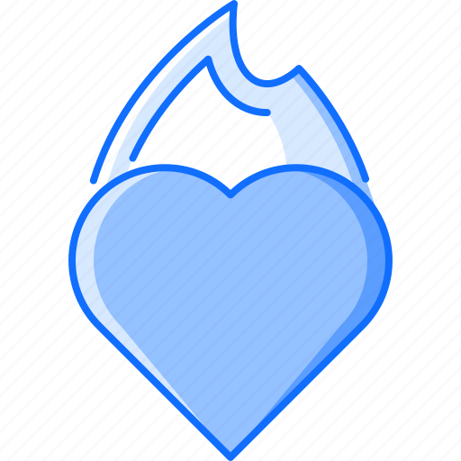 day, fire, heart, love, relationship, valentine icon