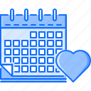 calendar, day, heart, love, relationship, valentine icon