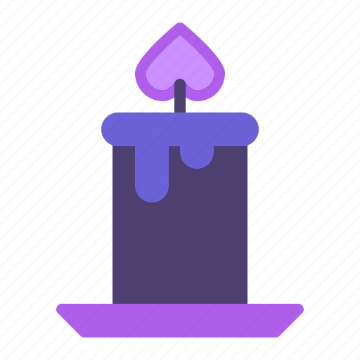 candle, candlelight, decoration, flame icon