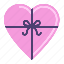gift box, heart, love, present icon
