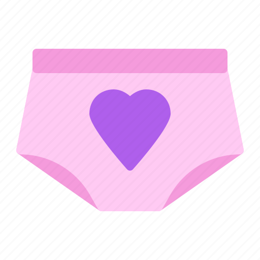 heart, lover, panties, underwear icon