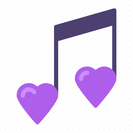heart, love, music, note icon