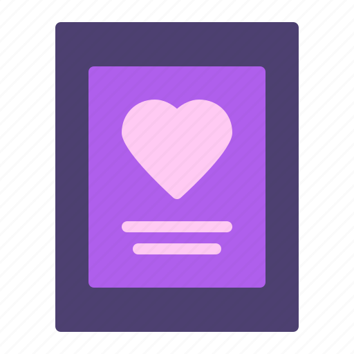 greeting card, heart, love, poster icon