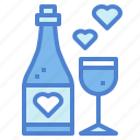 alcohol, champagne, drink, glasses icon