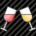 alcohol, cheers, drink, liquor, love, toasting, wine glass