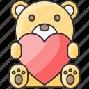 bear, cubby, heart, panda, stuffed, teddy, toy