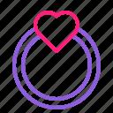 dual, februari, line, love, ring, romantic, valentine icon