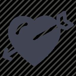 arrow, bow, cupid, heart, love, marriage icon