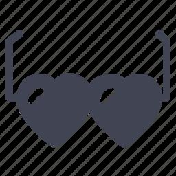 glasses, heart, love, marriage, shades, sunglasses icon