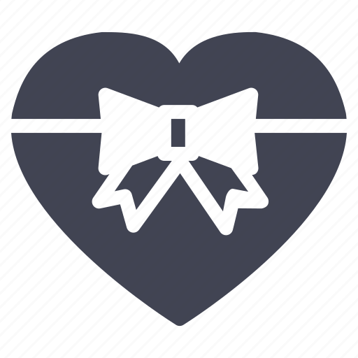 gift, heart, love, marriage, present, valentine, wrapped icon