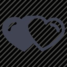 heart, hearts, love, marriage, valentine icon