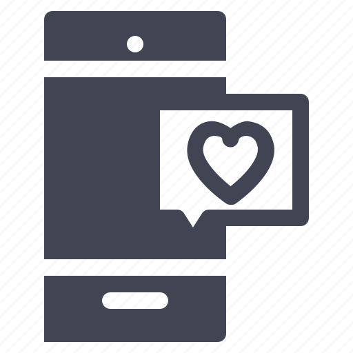 heart, love, marriage, message, phone, smartphone icon