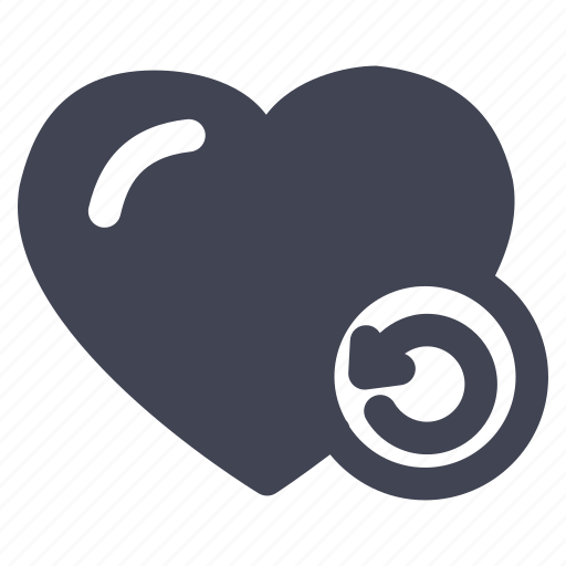arrow, heart, love, marriage, refresh, reload icon