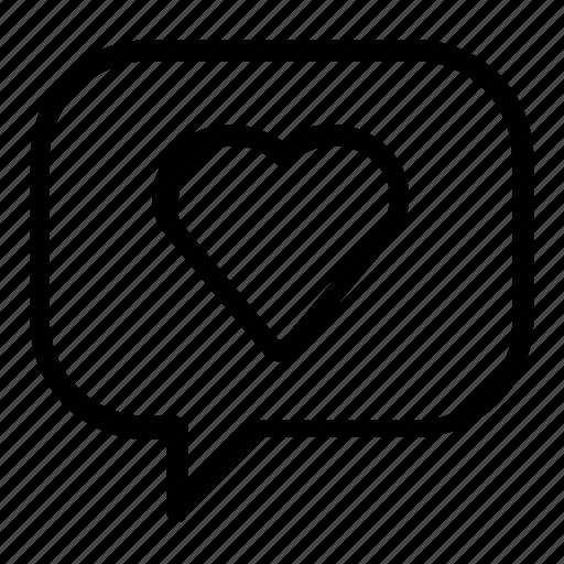 heart, love, message icon
