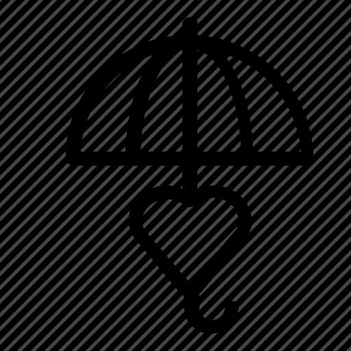 heart, umbrella icon