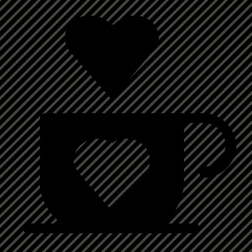 cafe, heart icon