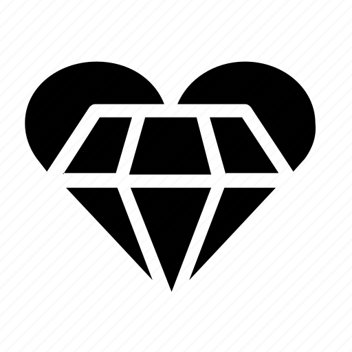 Diamond, engagement, heart, jewel icon - Download on Iconfinder
