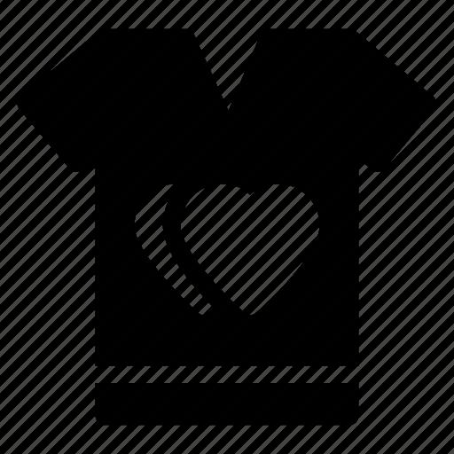 hearts sign, love, romantic, tee shirt, valentine dayicon icon