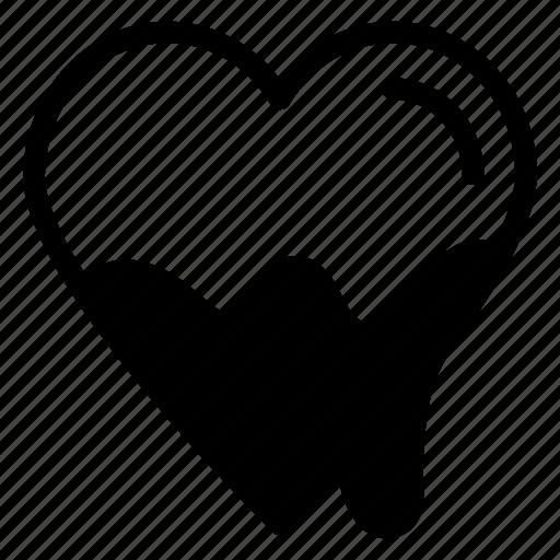 chocolate, chocolate heart, chocolate syrup, dripping, joy, valentine day icon