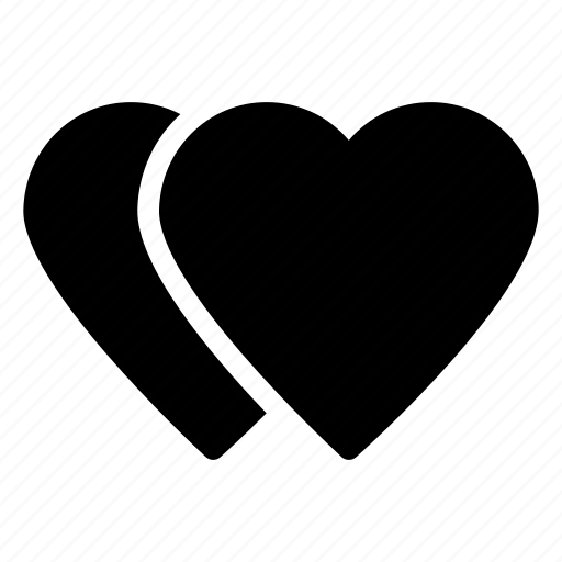 affection, love, love hearts, lovers, two heartsicon icon