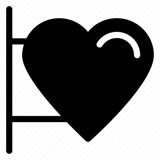heart sign, info, information, message, signboardicon icon