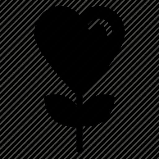 heart flowers, love, love concept, passion, romanticicon icon