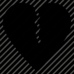 breakup, broken heart, divorce, flirting, heartbreakicon icon