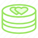cake, hearts, love, wedding icon