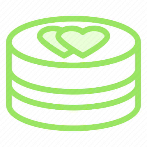 cake, hearts, love, wedding icon
