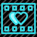 flim, love, reel, romance, wdding icon