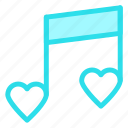 love, music, romantic, wedding icon