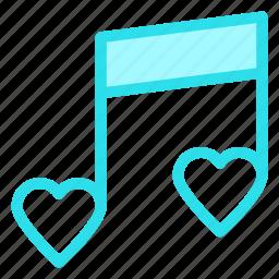 love, music, romantic, wedding icon