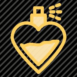 love, perfume, romance, wedding icon