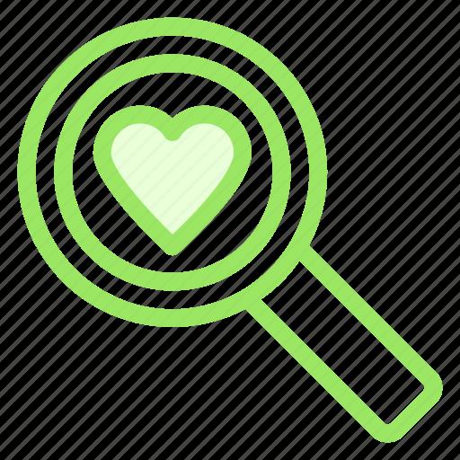 find, heart, love, romance, search, wdding icon