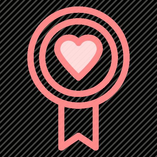 badge, heart, love, romance icon