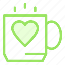 coffee, love, tea, wedding icon