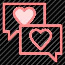 boubble, chat, communication, love, romance icon