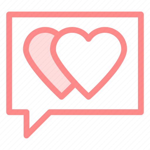 chat, communication, love, romantic icon