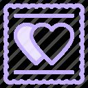 cookies, heart, love, wedding icon
