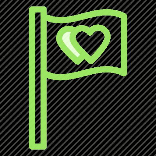 flag, love, romance, wedding icon
