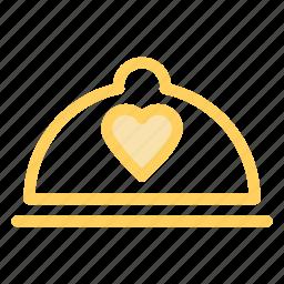 food, hotel, love, wedding icon