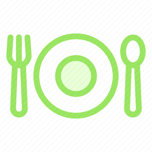 food, fork, knife, plate icon