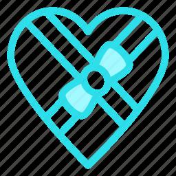 gift, heart, love, valentine, wedding icon