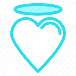 angle, heart, love, romance icon