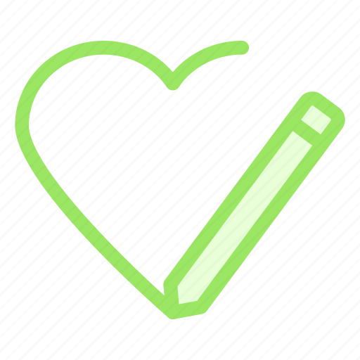 edit, heart, love, romance icon