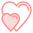 heart, hearts, love, romance icon