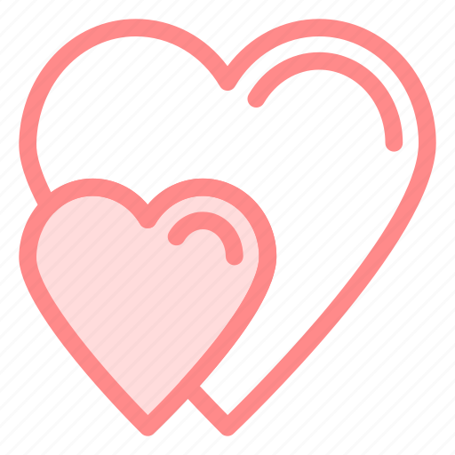 heart, hearts, love, romance icon